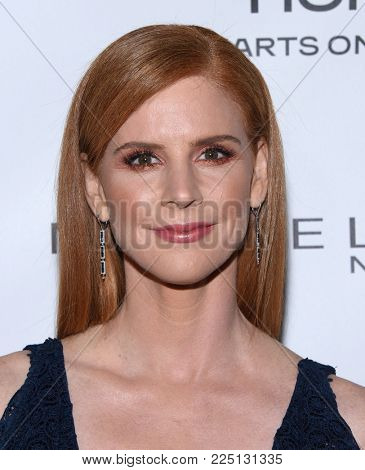 LOS ANGELES - JAN 20:  Sarah Rafferty arrives for the EW Magazine honors SAG Nominees on January 20, 2018 in West Hollywood, CA