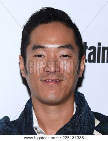 LOS ANGELES - JAN 20:  Leonardo Nam arrives for the EW Magazine honors SAG Nominees on January 20, 2018 in West Hollywood, CA