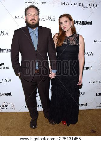 LOS ANGELES - JAN 20:  Matt Peters and Susan Burke arrives for the EW Magazine honors SAG Nominees on January 20, 2018 in West Hollywood, CA