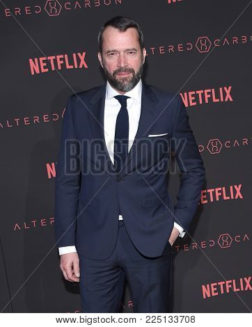 LOS ANGELES - FEB 01:  James Purefoy arrives for the Netflix's 'Altered Carbon' Season 1 Premiere on February 1, 2018 in Los Angeles, CA