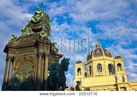 Maria Theresa Statue Low Angle