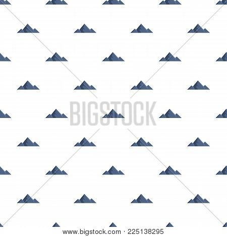 Mountain peak pattern seamless in flat style for any design