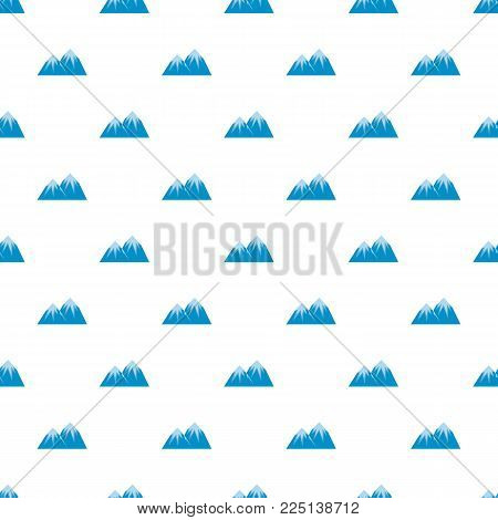 Snow peak pattern seamless in flat style for any design