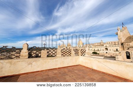 The Small Town Of Noto With The Basilica And Cathedral Of St. Nicholas Of Myra (san Nicolo) In Sicil