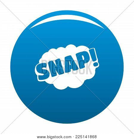 Comic boom snap icon vector blue circle isolated on white background