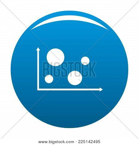 Finance diagram icon vector blue circle isolated on white background