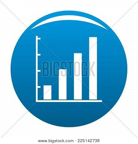 Finance chart icon vector blue circle isolated on white background