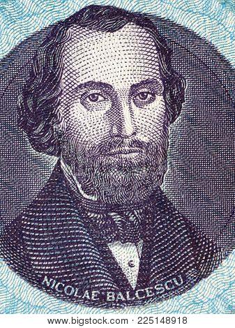 Nicolae Balcescu portrait from Romanian money - Lei