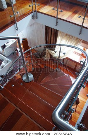 View From Top Of Spiral Stair Case