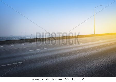 High Way Road And Sky Background Transportation Concept