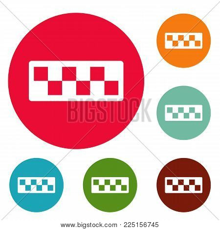 Taxi cab icons circle set vector isolated on white background