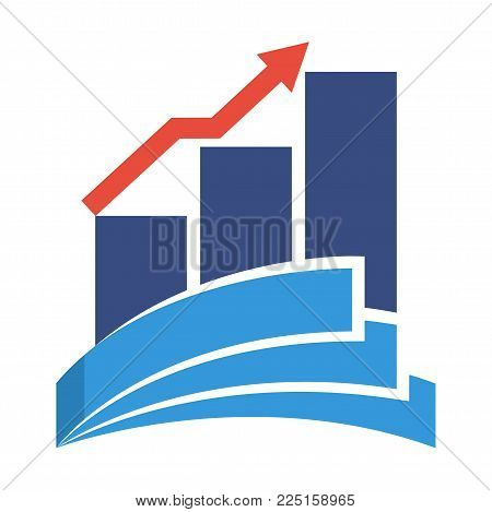 icon logo for bookkeeping services for financial business investment