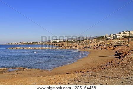sea shore in city Paphos, the island Cyprus