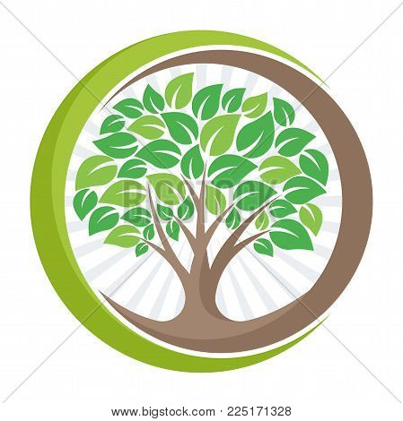tree logo icon with the meaning of growing, developing, or managing the green environment.