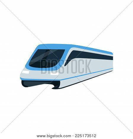 Super streamlined high speed train locomotive, passenger waggon vector Illustration on a white background