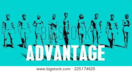 Advantage Focus with Business People United Art
