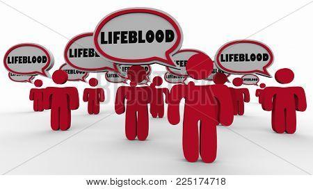 Lifeblood People Important Vital Group 3d Illustration poster