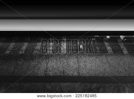 Dark cyberpunk railway track background high defenition
