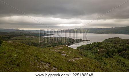 Loch Torridon, Scottish Highlands; Aerial View