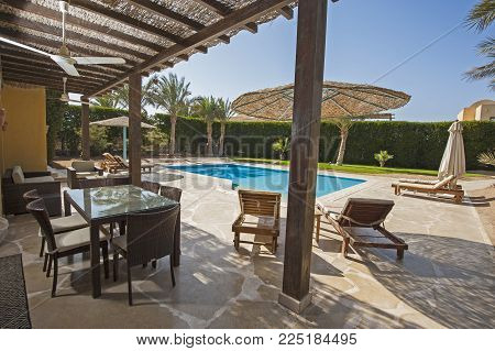 Swimming Pool At A Luxury Tropical Holiday Villa