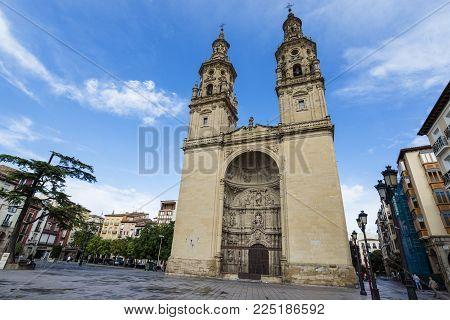 Calahorra spain / Calahorra 27/08/2017 : The Cathedral of Santa María is a cathedral located in Calahorra (in La Rioja, Spain). It was declared Bien de Interés Cultural in 1931.