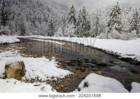 Winter Landscape Of French Alps