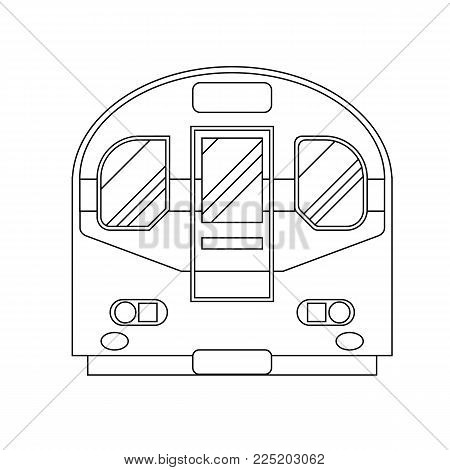 Coloring book for children. Vector illustration. subway train, metro London