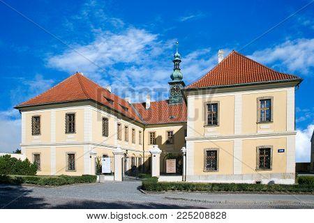 CZECH REPUBLIC, KLADNO - SETP 18, 2015: baroque castle with park, historical town center of town Kladno, Central Bohemia, Czech republic