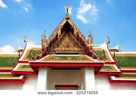 Bangkok, Thailand, territory of the temple Wat Arun Ratchawararam Ratchawaramahawihan or Wat Arun is a Buddhist temple.