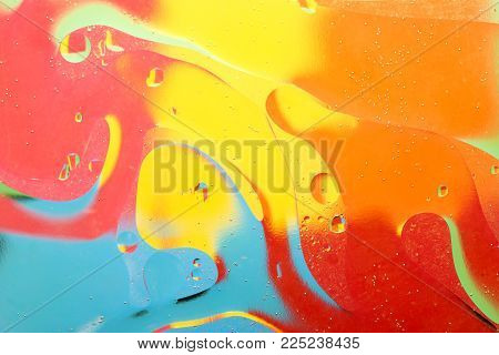 Abstract water with bubbles. The art of water bubbles on the background display surface waters for your products and artwork design. Abstract reflections on the bubbles and a watery background.
