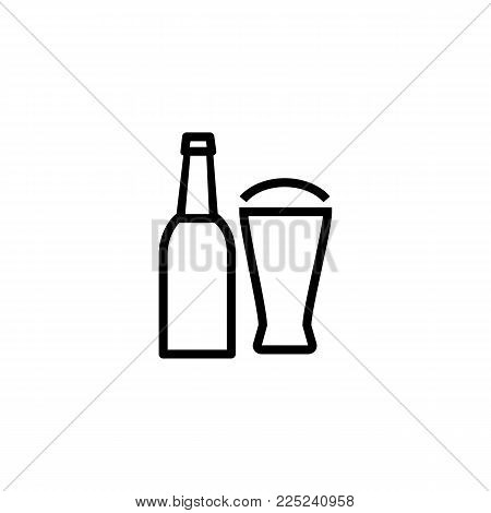 Icon of beer. Bottle, pint, ale. Beer concept. Can be used for topics like bar, beerhouse, pub.