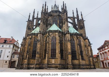 St. Vitus Cathedral, Roman Catholic cathedral, in Prague Castle and Hradcany, Czech Republic