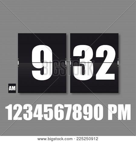 Flip Countdown timer. Flat vector business sign