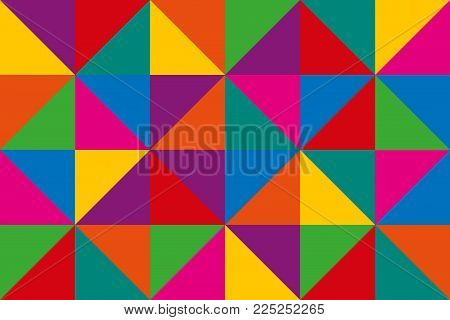 Abstract Vector Triangles, Colorful Geometric Triangular Background