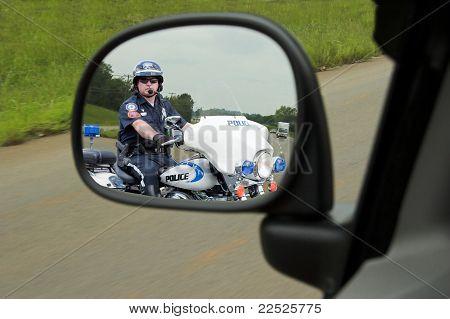 Police Motorcycle Cop Mirror
