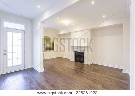 Empty living room interior design in a new house