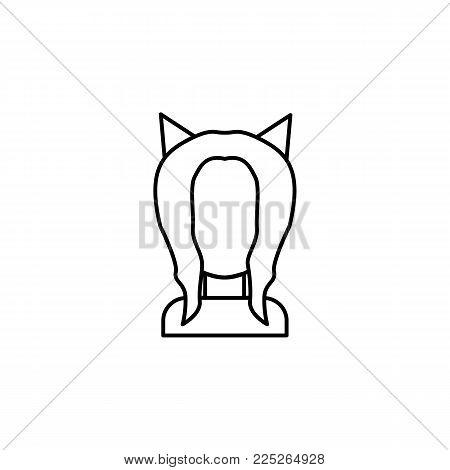 Anime goddess girl icon on white background