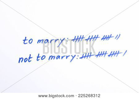 Decision support with tally to marry or not to marry