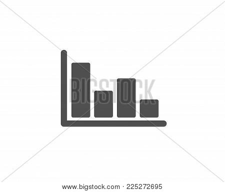 Histogram Column chart simple icon. Financial graph sign. Stock exchange symbol. Business investment. Quality design elements. Classic style. Vector