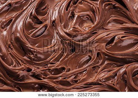Close up of molten milk chocolate background