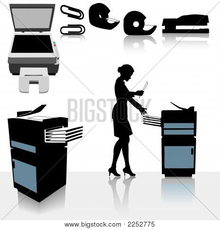 Office Copiers Business Woman