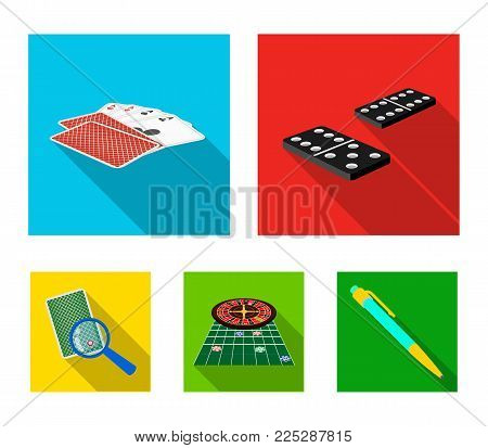 Excitement, casino, game and other  icon in flat style Magnifier, cheating, entertainment, icons in set collection.