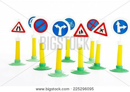 The Highway Code, road safety and vehicle rules driving law road sign toys..