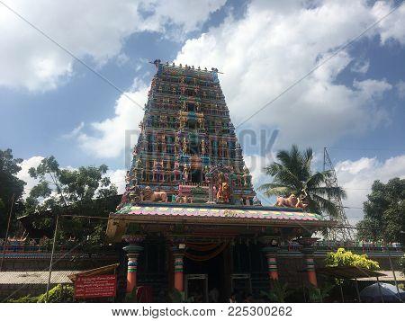 HYDERABAD, INDIA - NOV 17: Pedamma Temple in Hyderabad (Andhra Pradesh), India, as seen on Nov 17, 2017.