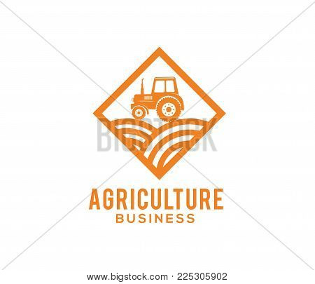 Vector Logo Design And Illustration Of Agriculture Business, Company, Research, Harvest, Plant, Tech