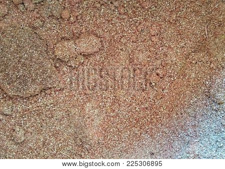 background of sawdust surface texture kept inside a bucket