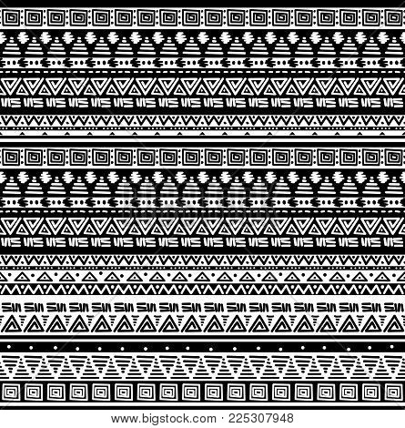 Seamless ethno tribal african pattern background  decoration