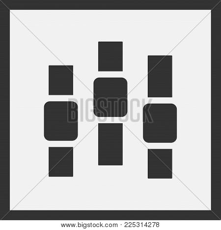 Power Slider Buttons. Web Ui Elements Design. User Interface. Vector Illustration.