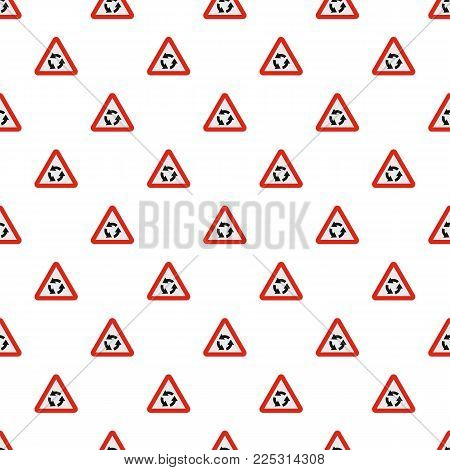 Circular motion pattern seamless in flat style for any design