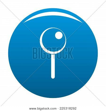 Attachment pin icon vector blue circle isolated on white background
